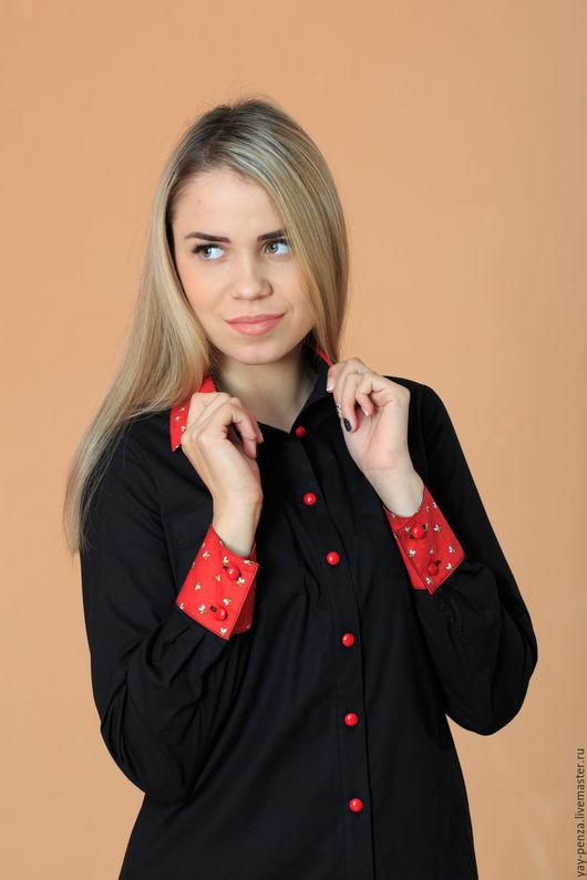 Блузки ручной работы. Ярмарка Мастеров - ручная работа. Купить Блузка Арт.1460. Handmade. Черный, 5% polyester