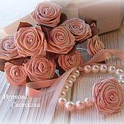 Украшения handmade. Livemaster - original item Jewelry set rose Coffee. Handmade.