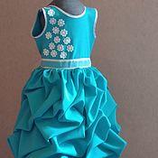 Платья ручной работы. Ярмарка Мастеров - ручная работа Платье с буфами. Handmade.