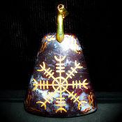 """Фен-шуй и эзотерика ручной работы. Ярмарка Мастеров - ручная работа """"Egishjalmr - Шлем Ужаса"""", рунический оберег из натурального камня. Handmade."""