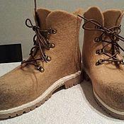 Обувь ручной работы. Ярмарка Мастеров - ручная работа Зимние ботинки. Handmade.