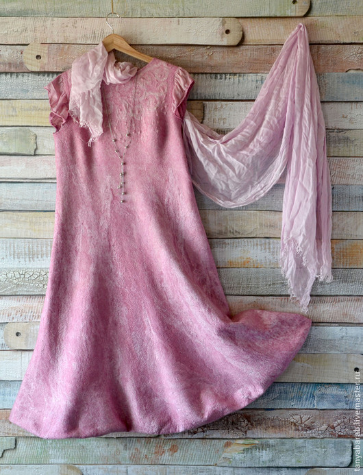 """Платья ручной работы. Ярмарка Мастеров - ручная работа. Купить Платье - сарафан """" Первоцвет"""" Нуно-войлок. Handmade. Розовый"""