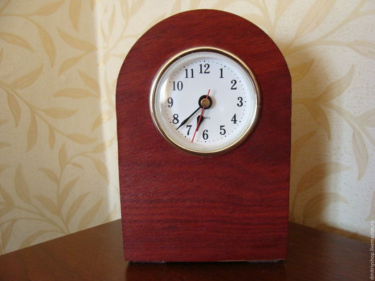 Часы для дома ручной работы. Ярмарка Мастеров - ручная работа. Купить Часы настольные деревянные Ярра. Handmade. Комбинированный