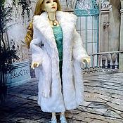 Шарнирная кукла ручной работы. Ярмарка Мастеров - ручная работа Шубка для БЖД SD 62 см. Handmade.