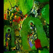 """Картины и панно ручной работы. Ярмарка Мастеров - ручная работа Картина """"В Храме"""". Handmade."""