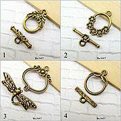 Материалы для творчества handmade. Livemaster - original item Toggle. Lock for jewelry Art.ZU03. Handmade.