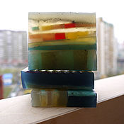 Косметика ручной работы. Ярмарка Мастеров - ручная работа «Огни большого города» - сувенирное мыло.. Handmade.