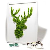 Картины и панно handmade. Livemaster - original item Moss Art-Deer. Handmade.