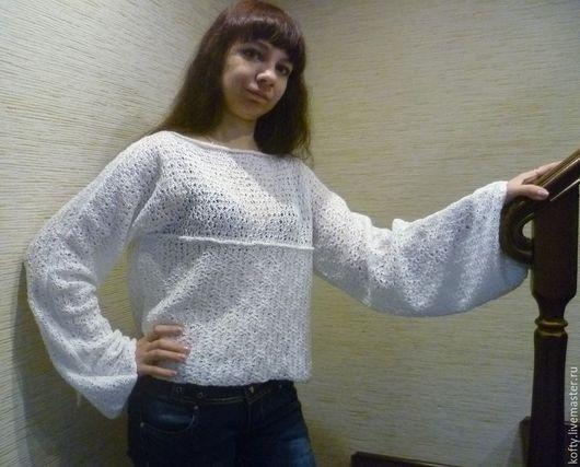 """Кофты и свитера ручной работы. Ярмарка Мастеров - ручная работа. Купить Кофточка """"Белый ажур"""". Handmade. Белый, кофта вязаная"""