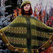 """Одежда ручной работы. Ярмарка Мастеров - ручная работа Комплект  """"Осень"""", пончо, берет, перчатки. Handmade."""