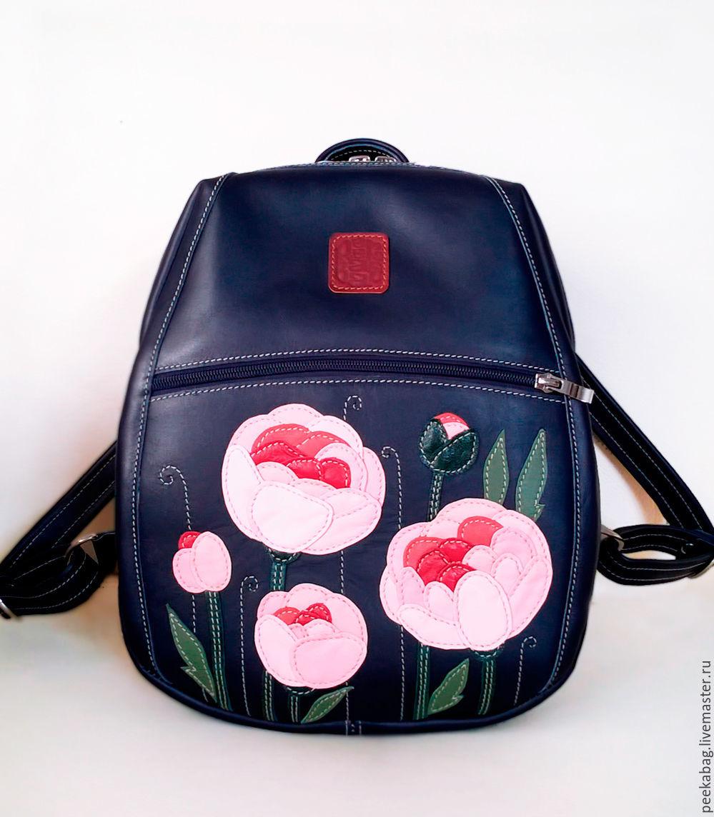 Женский рюкзак из натуральной кожи. Кожаный женский рюкзак