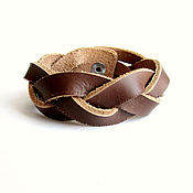 Украшения handmade. Livemaster - original item Braided leather men`s bracelet. Handmade.
