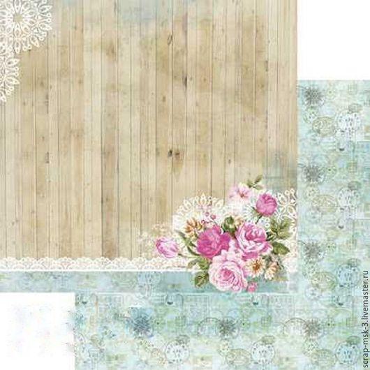 Открытки и скрапбукинг ручной работы. Ярмарка Мастеров - ручная работа. Купить Бумага для скрапбукинга по листу Цветы и кружево 4305 Fleur Design. Handmade.