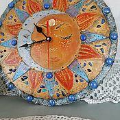 Для дома и интерьера handmade. Livemaster - original item Clock Panel Sun Moon. Handmade.