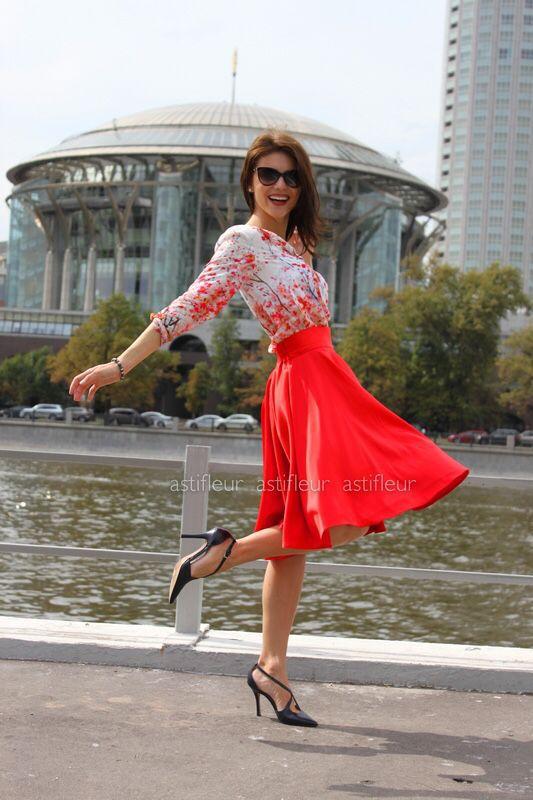 b8ccdab2f2c Красная юбка солнце – купить в интернет-магазине на Ярмарке Мастеров ...