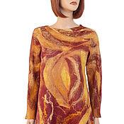 Одежда handmade. Livemaster - original item Felted tunic, Merino sweatshirt