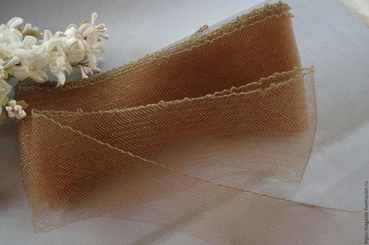 Вышивка ручной работы. Ярмарка Мастеров - ручная работа. Купить Винтажная металлизированная лента - сетка Франция, цена за 5 см.. Handmade.