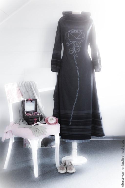 Платья ручной работы. Ярмарка Мастеров - ручная работа. Купить Платье Роза. Handmade. Платье в пол, роза