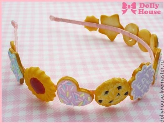"""Заколки ручной работы. Ярмарка Мастеров - ручная работа. Купить Ободок """"Sweet Cookies Parade"""". Handmade. Dolly house"""