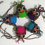 """Куклы и игрушки ручной работы. Ярмарка Мастеров - ручная работа Погремушки """"Совята"""". Handmade."""