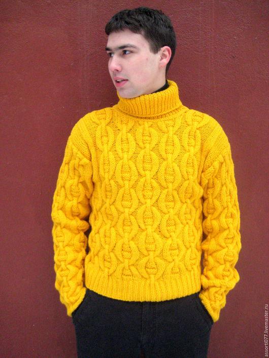 """Для мужчин, ручной работы. Ярмарка Мастеров - ручная работа. Купить свитер """" H-style"""". Handmade. Желтый"""