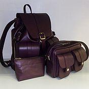 Сумки и аксессуары handmade. Livemaster - original item Backpack, handbag, cosmetic bag leather. Handmade.