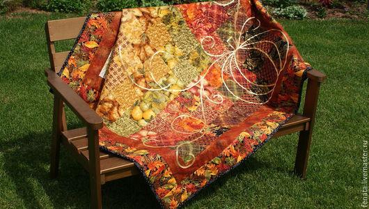 Текстиль, ковры ручной работы. Ярмарка Мастеров - ручная работа. Купить Лоскутный плед Дары осени. Handmade. Лоскутный плед