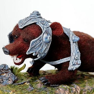 Сувениры и подарки ручной работы. Ярмарка Мастеров - ручная работа Боевой медведь, мир фэнтези,  войлочная игрушка. Handmade.