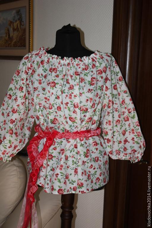 Блузка малиновая