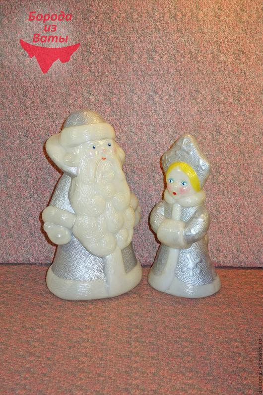 Винтажные куклы и игрушки. Ярмарка Мастеров - ручная работа. Купить Дед Мороз и Снегурочка. Советские. Пластмасса. Handmade. Голубой