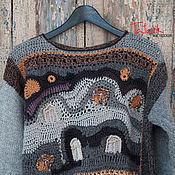 """Одежда ручной работы. Ярмарка Мастеров - ручная работа Вязаный мужской свитер из серии """"Окна Хундертвассера"""" цвет3. Handmade."""