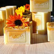Косметика ручной работы handmade. Livemaster - original item Rice gentle soap with calendula for baby and sensitive skin. Handmade.
