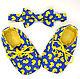 """Галстуки, бабочки ручной работы. Ярмарка Мастеров - ручная работа. Купить Комплект галстук бабочка и модики """"Уточки"""". Handmade. для детей"""