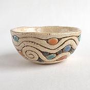 Посуда ручной работы. Ярмарка Мастеров - ручная работа Пиала «Синяя вода». Handmade.