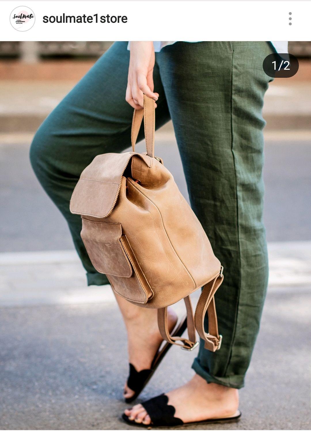 b527e83b4f32 Рюкзаки ручной работы. Ярмарка Мастеров - ручная работа. Купить Женский  рюкзак  Капучино  ...