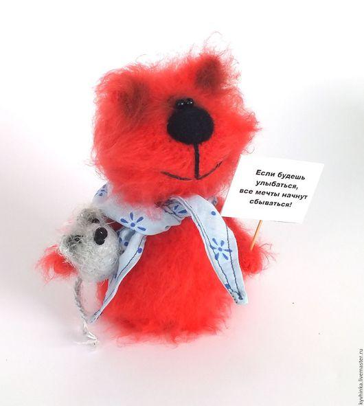 Игрушки животные, ручной работы. Ярмарка Мастеров - ручная работа. Купить Кот Огонек (коты, подарок, вязаная игрушка). Handmade.
