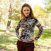 Одежда handmade. Livemaster - original item New - Turtleneck with Raglan sleeve - Paisley. Handmade.