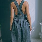 Одежда ручной работы. Ярмарка Мастеров - ручная работа Шерстяная юбка со съемными бретелями. Handmade.