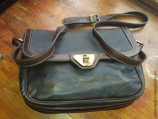 Винтажные сумки и кошельки. Ярмарка Мастеров - ручная работа. Купить сумка Gianfranco Ferre винтаж оригинал. Handmade. Хаки