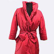 Одежда handmade. Livemaster - original item Jacket red coat on sintepon. Handmade.