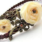 Украшения handmade. Livemaster - original item Kit (bezel and bracelet) Vanilla rose.. Handmade.