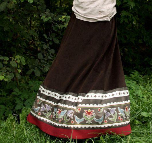 """Юбки ручной работы. Ярмарка Мастеров - ручная работа. Купить Вельветовая юбка """"Романтика"""". Handmade. Юбка, теплая юбка, хлопок"""