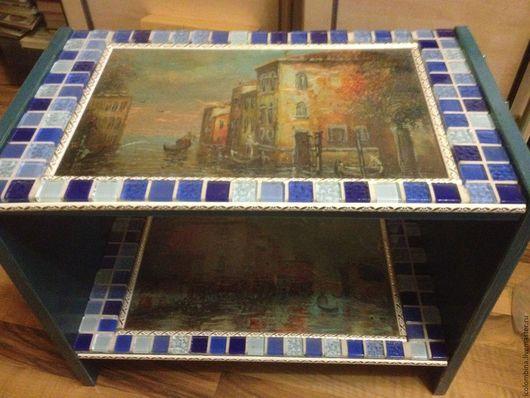 """Мебель ручной работы. Ярмарка Мастеров - ручная работа. Купить """"Венеция навсегда"""". Прикроватная тумба. Handmade. Тёмно-синий"""