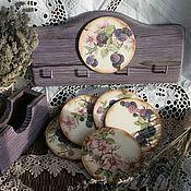 """Для дома и интерьера ручной работы. Ярмарка Мастеров - ручная работа набор для кухни """"Ежевика"""". Handmade."""