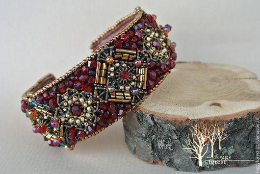 Браслеты ручной работы. Ярмарка Мастеров - ручная работа. Купить Браслет из бисера Браслет Пурпурное сердце браслет красный. Handmade.