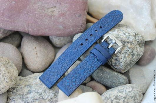 """Часы ручной работы. Ярмарка Мастеров - ручная работа. Купить Ремешок на ваши часы """"  Море"""". Handmade. Синий, ремешки"""