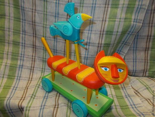 Игрушки животные, ручной работы. Ярмарка Мастеров - ручная работа. Купить Рыжий кот. Handmade. Разноцветный, птица, скульптура