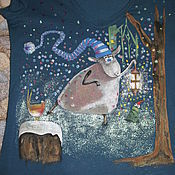 Одежда ручной работы. Ярмарка Мастеров - ручная работа Новогодняя коза в саду. Handmade.