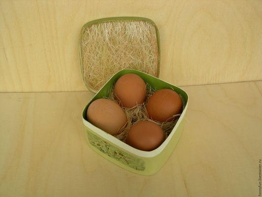 Упаковка ручной работы. Ярмарка Мастеров - ручная работа. Купить К Пасхе - гнездышко, корзинка для яиц - вставка в коробочку, шкатулку. Handmade.