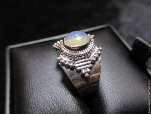 Кольца ручной работы. Ярмарка Мастеров - ручная работа. Купить Уникальное авторское кольцо с опалом из Эфиопии. Handmade. Комбинированный